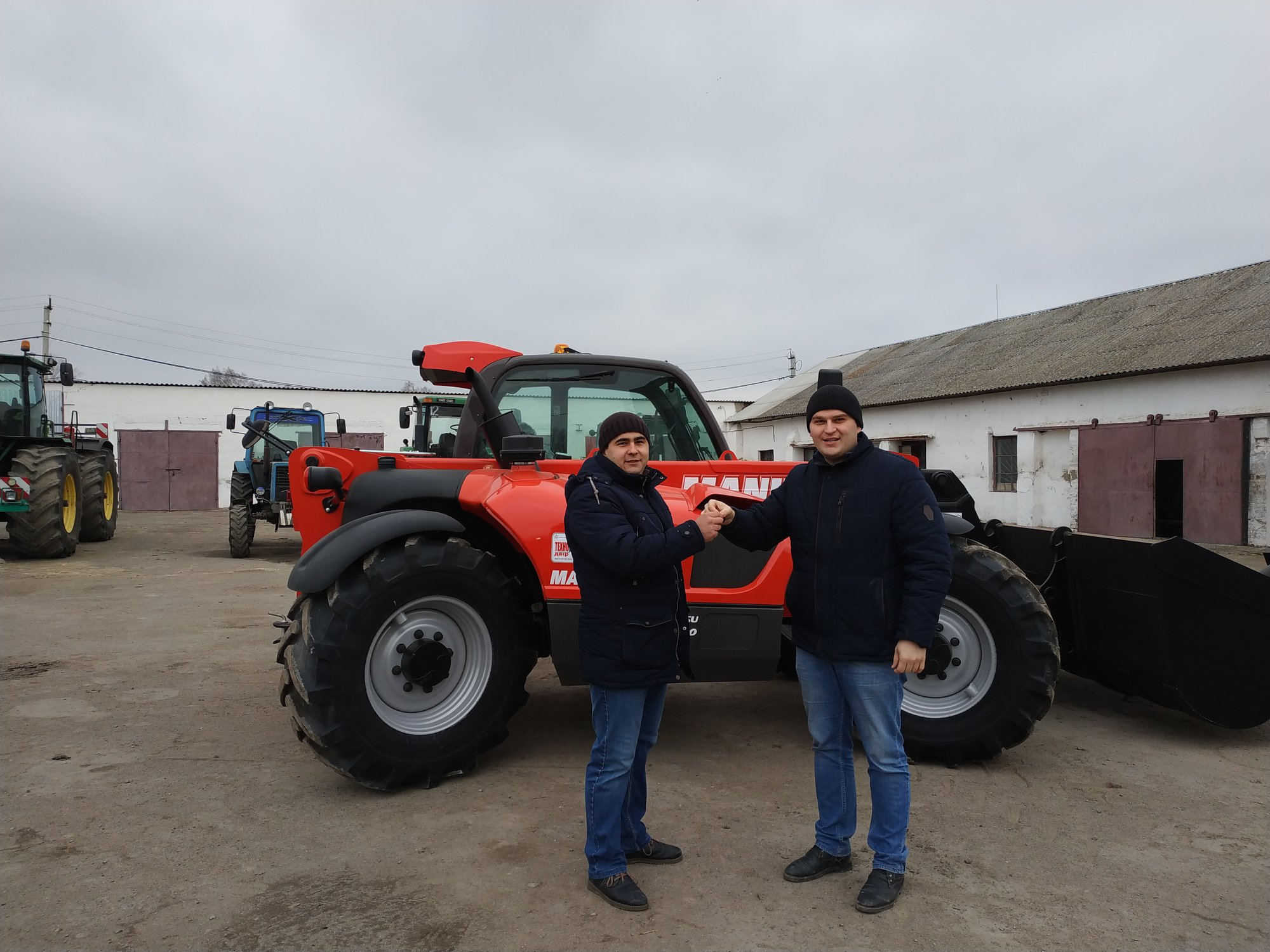 Delivery of three Manitou to the Khmelnytsky region